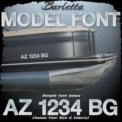 Barletta Model Font Registration (2 included), Choose Your Own Colors