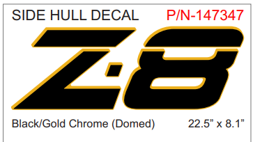Nitro Z8 decal set (2 included)