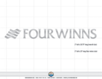Domed Four Winns Brand Decal