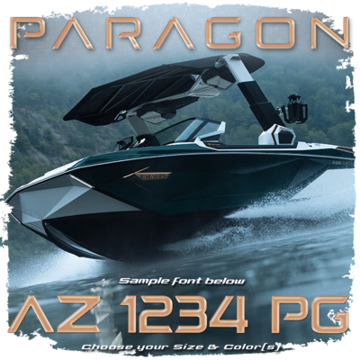 Paragon by Nautique Registration, Choose Your Own Colors (2 included)