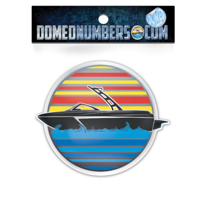 Domed Numbers Decal