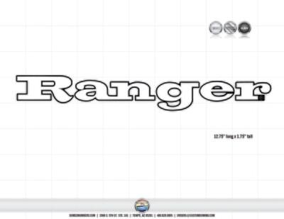Ranger Decal 12.75 x 1.75 (1 decal)