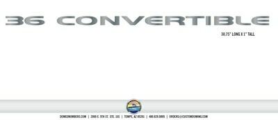 Silverton 36 Convertible (1 decal)