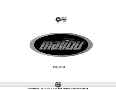 Domed Malibu Boats 1999 Emblem (1 decal)