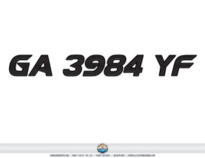 2020 Supra Registration Match GA 3984 YF