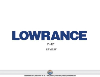 LOWRANCE domed decals (2 included)