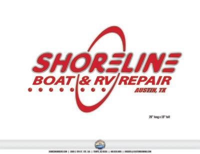 Shoreline Domed Truck Door Decal (2 included)