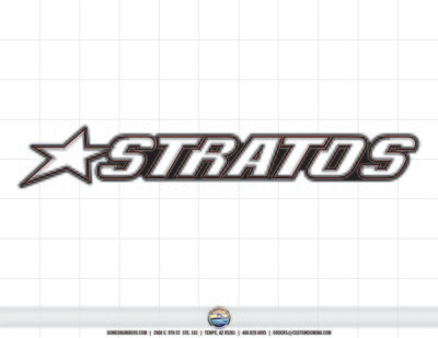 STRATOS Boats Domed Decal (1 Decal Included)