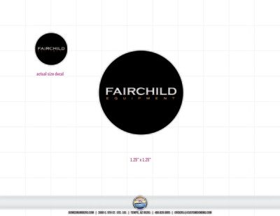Fairchild-1.25in-decal (4 included)