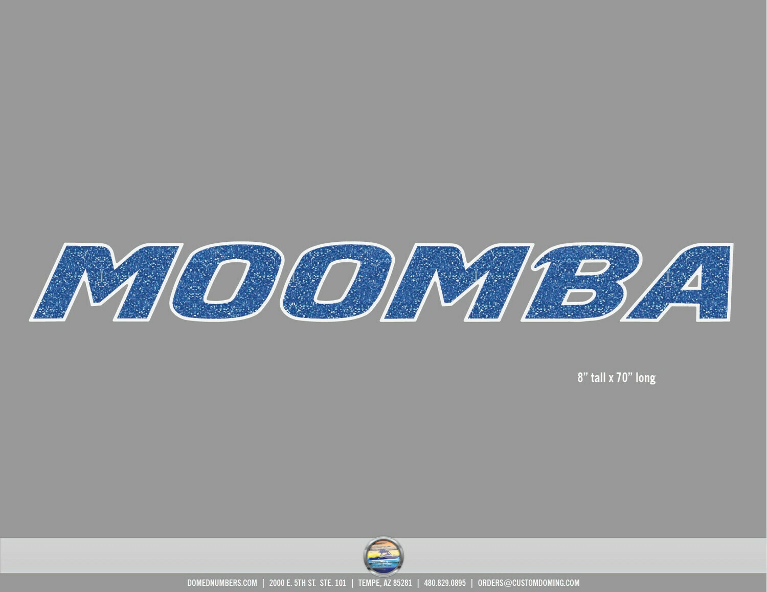 Moomba Brand Decal Set, Choose Your Size and Colors (2 included)
