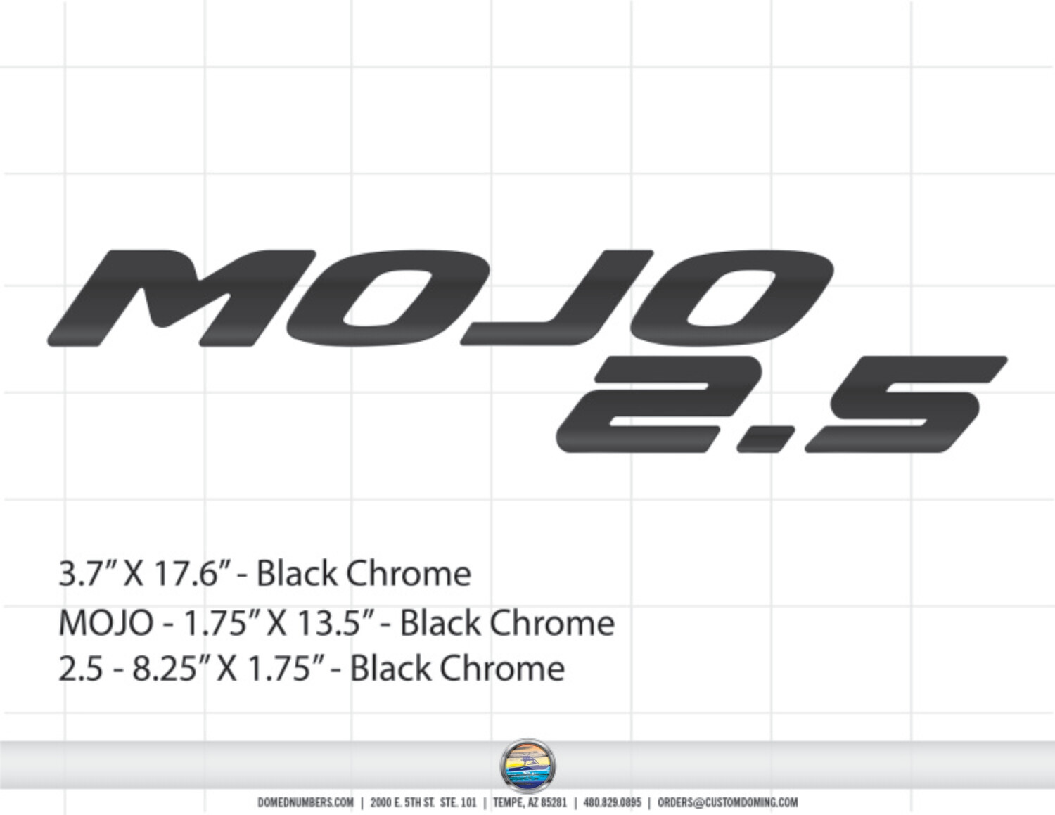 Moomba MOJO 2.5 Decal Set (2 included)