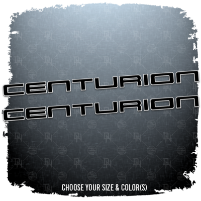 Centurion Brand Decal Set, Choose your Size and Colors  (2 INCLUDED)