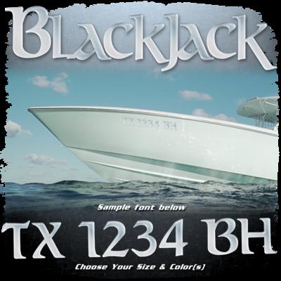 BlackJack Registration (2 included), Choose Your Own Colors
