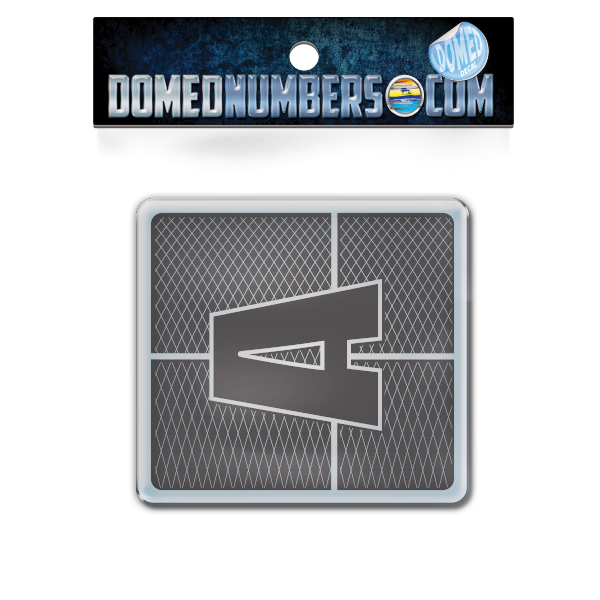 Domed Axis Square Decal