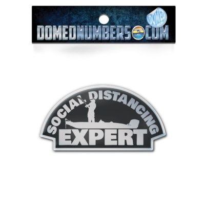 Social Distancing Expert Domed Decal