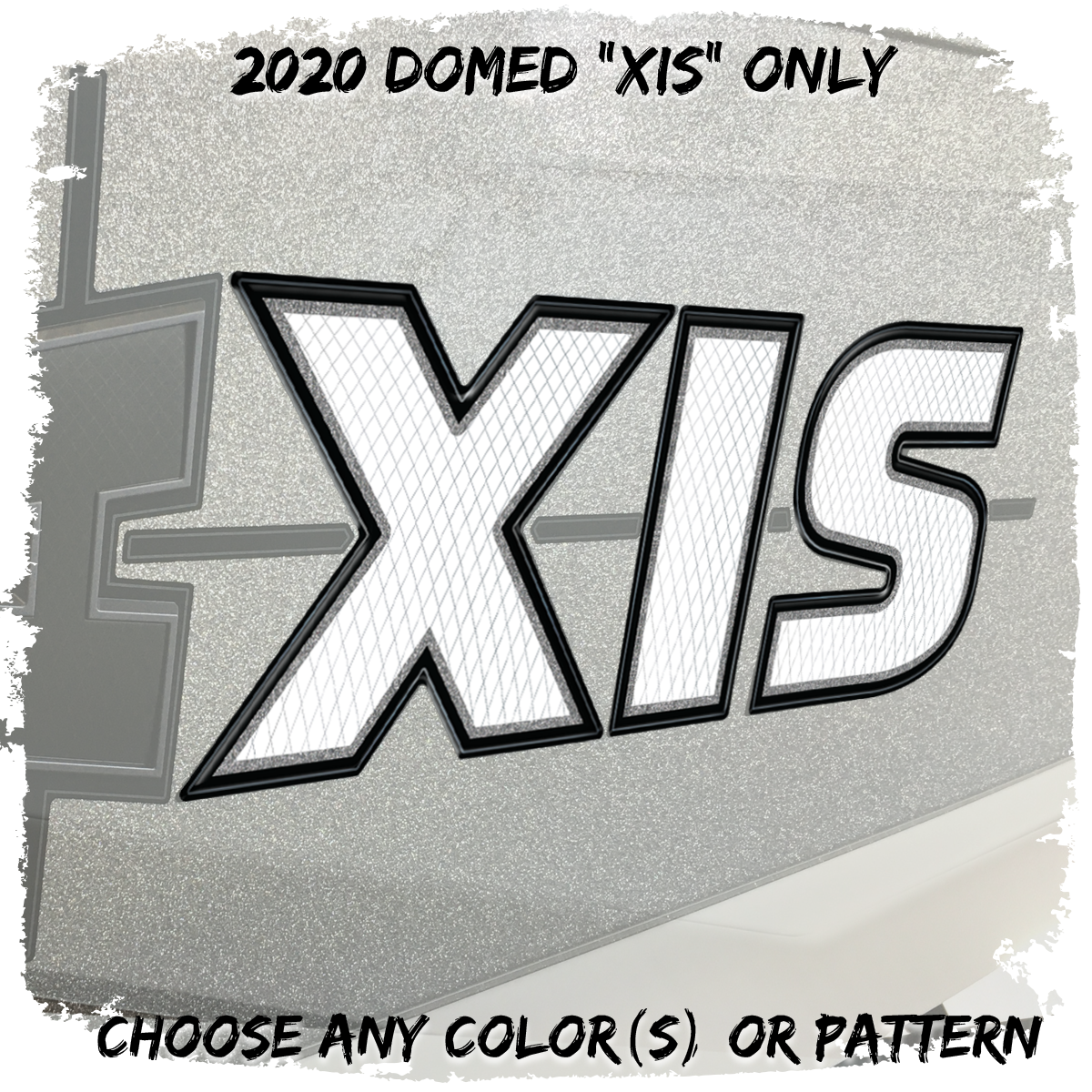"Domed Axis 2020-21 ""XIS"" Hull Decal w/ A insert, (1 Decal Included)"