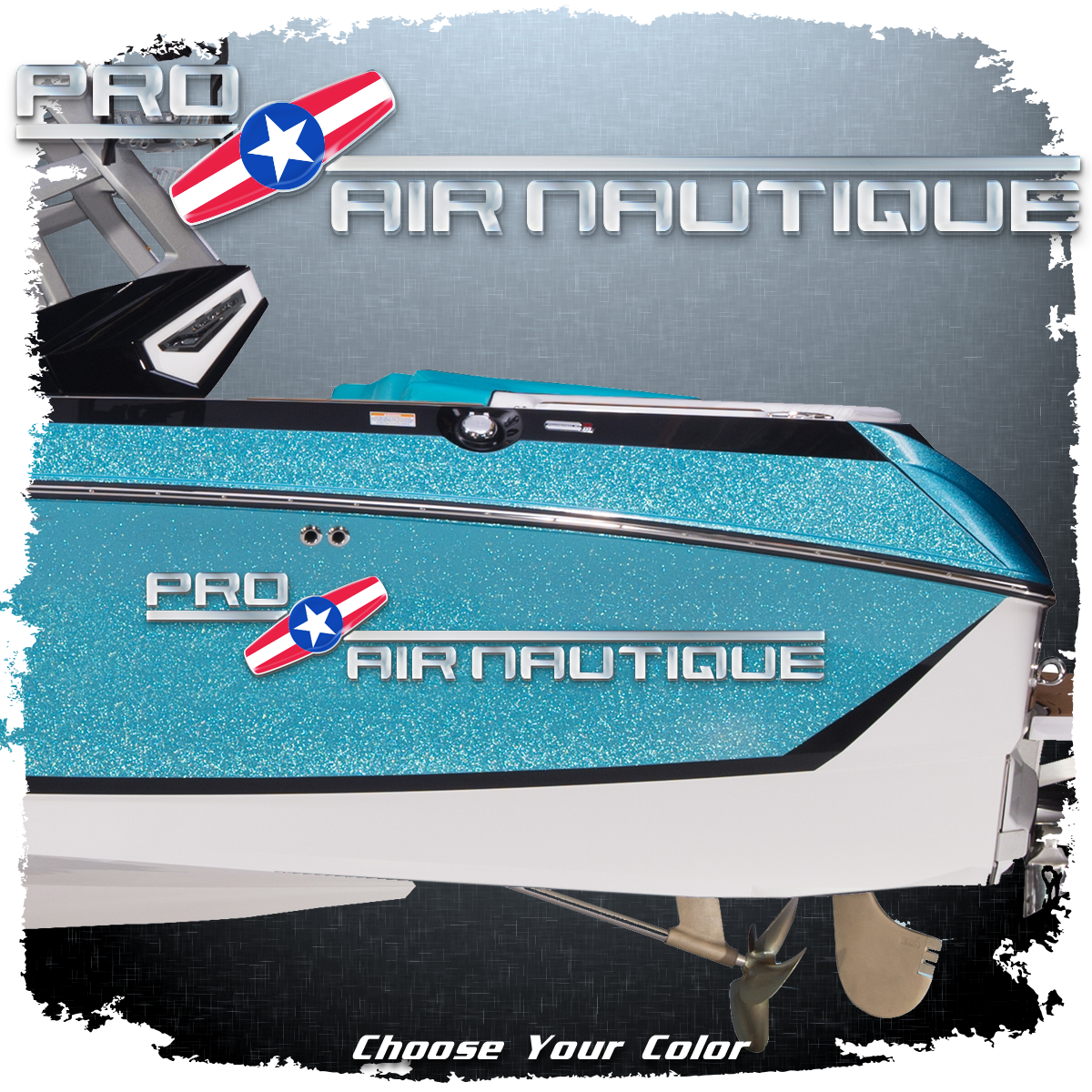Domed Pro Air Nautique Decal, Choose Your Color (1 included)