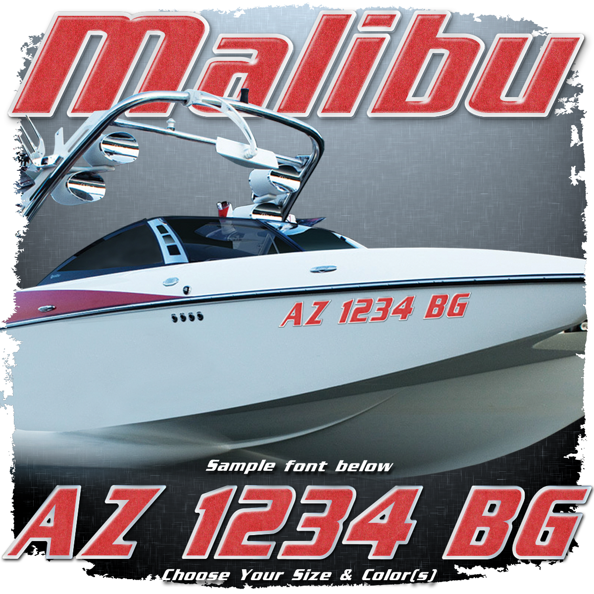Malibu Registration (2 included), Choose Your Own Colors