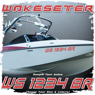 Malibu Wakesetter Registration, 2014 - current, Choose Your Own Colors  (2 included)