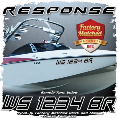 Malibu Response Registration, Black & Chrome Factory Match (2 included)