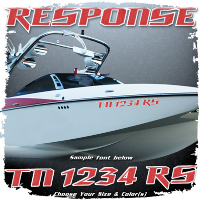 Malibu Response Registration, 2012-14, Choose Your Own Colors (2 included)