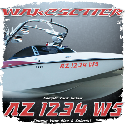 Malibu Wakesetter Registration, 2007-09, Choose Your Own Colors (2 included)