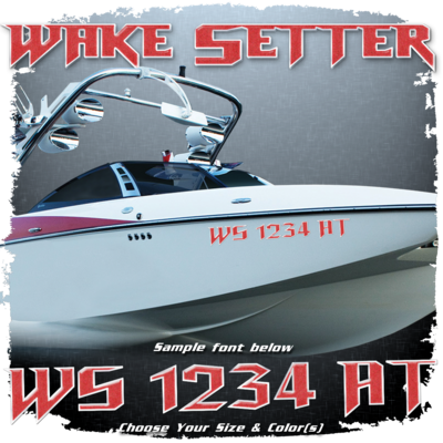 Malibu Wakesetter Registration, 2010-13, Choose Your Own Colors (2 included)
