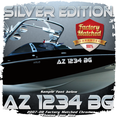 Malibu Silver Edition Registration, 2007-08, Factory Matched Chrome (2 included)