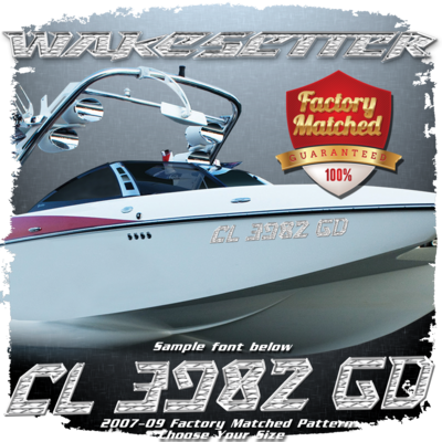 Malibu Wakesetter Registration, 2007-09 Factory Pattern Match (2 included)