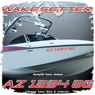 Malibu Wakesetter Registration,  2002-05, Choose Your Own Colors (2 included)