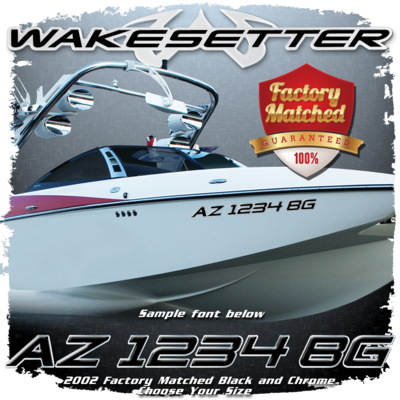 Malibu Wakesetter Registration, 2002-05, Black & Chrome Factory Match (2 included)