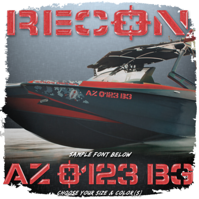 Axis Recon Registration, 2013, Choose Your Own Colors (2 included)