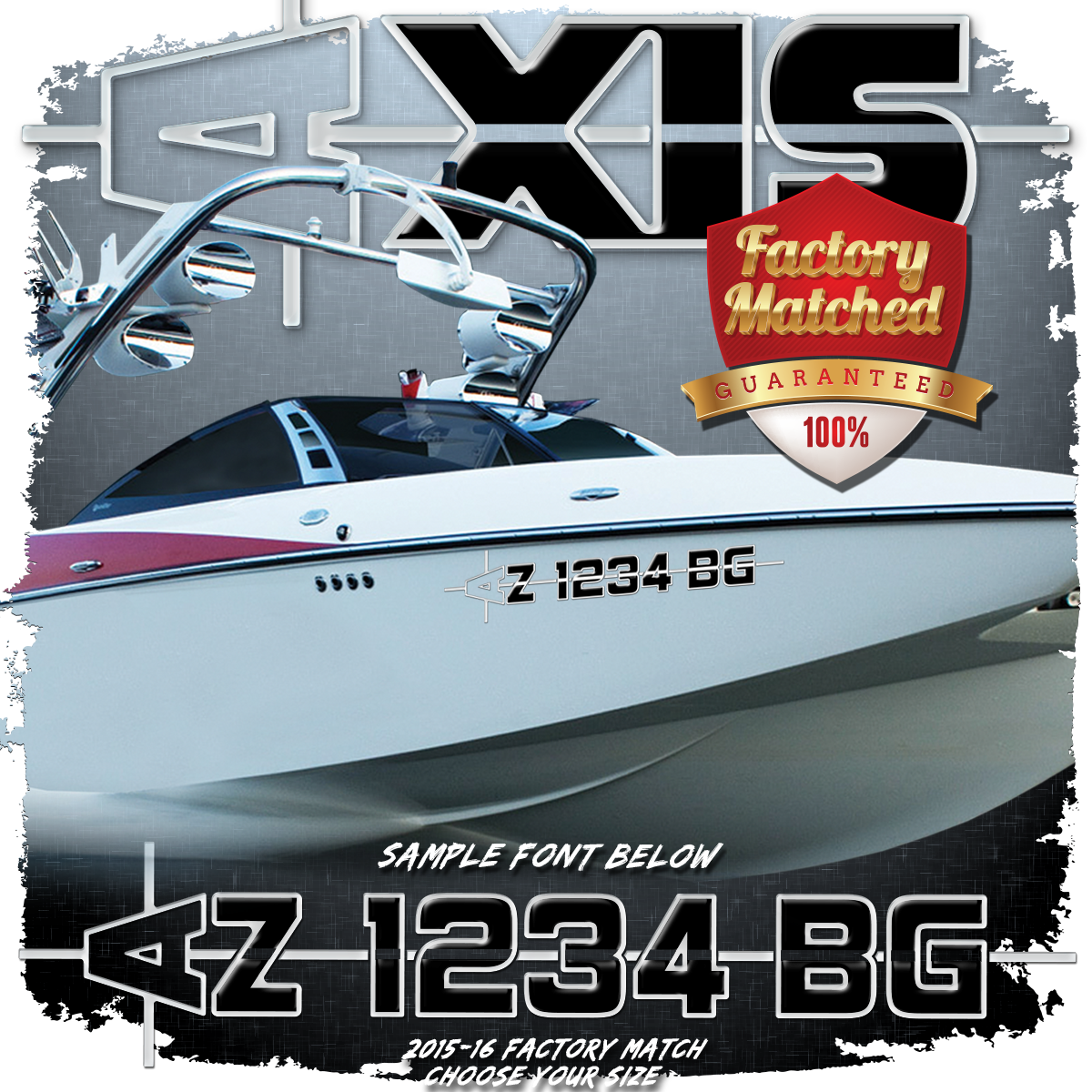 AXIS 2015-16 Registration (2 included), Factory Matched Colors