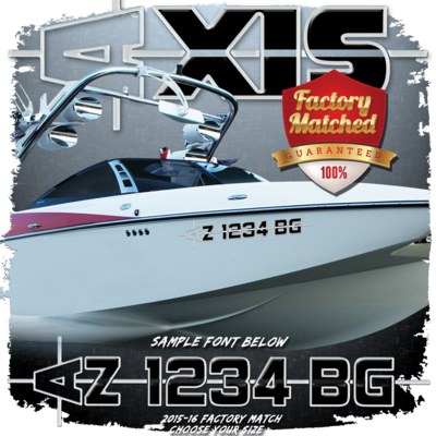 AXIS 2015-16 Registration (2 included), Black & Metallic Silver Factory Match