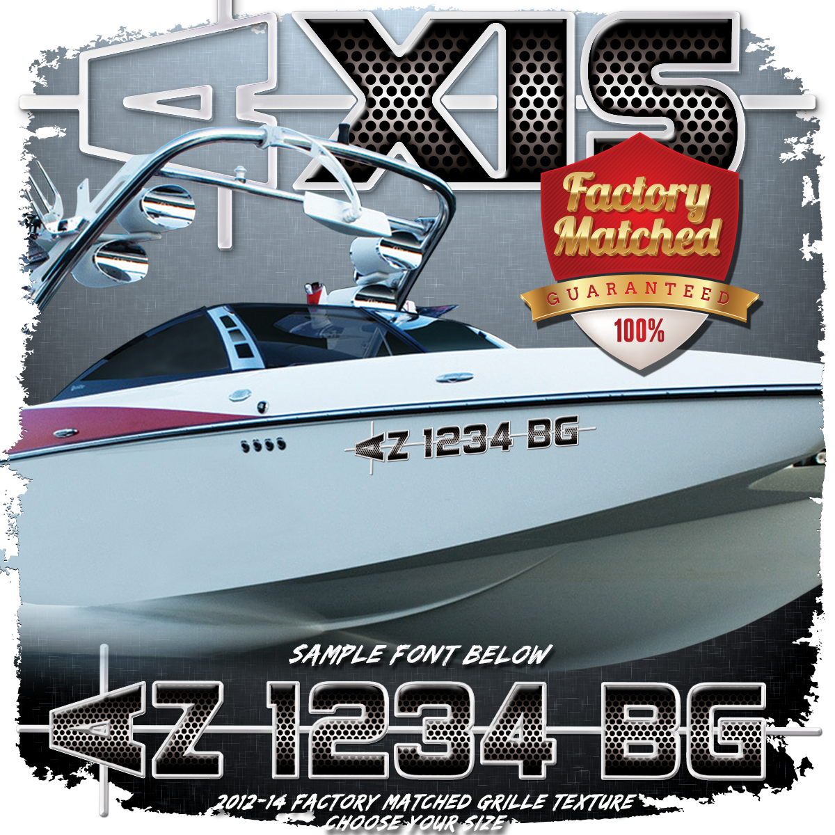 Axis 2012-14 Registration (2 included), Factory Matched Grill Pattern