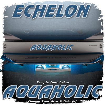 Domed Boat Name in the 1994-95 Echelon Font, Choose Your Own Colors