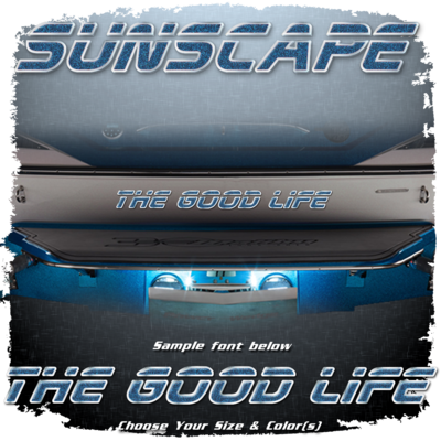 Domed Boat Name in the 2001-05 Sunscape Font, Choose Your Own Colors