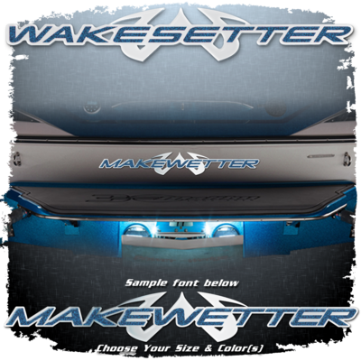 Domed Boat Name in the 2002-05 Wakesetter Font, Choose Your Own Colors