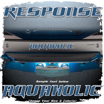 Domed Boat Name in the 2012-14 Response Font, Choose Your Own Colors