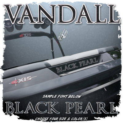 Domed Boat Name in the Axis Vandall Font, Choose Your Own Colors