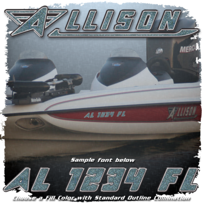 Allison Registration (2 included), Choose Your Own Fill Color with Factory Matched outlines