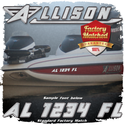 Allison Registration (2 included), Factory Matched Colors
