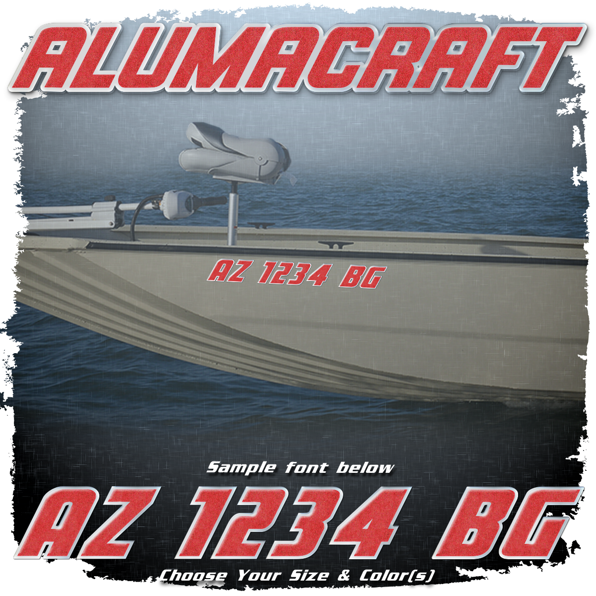 Alumacraft Registration (2 included), Choose Your Own Colors
