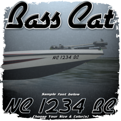 Bass Cat Registration (2 included), Choose Your Own Colors