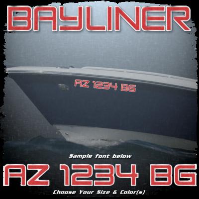 Bayliner Registration (2 included), Choose Your Own Colors
