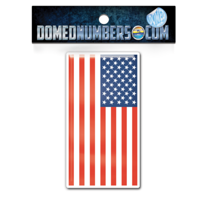 American Flag Domed Decal, Choose Your Size