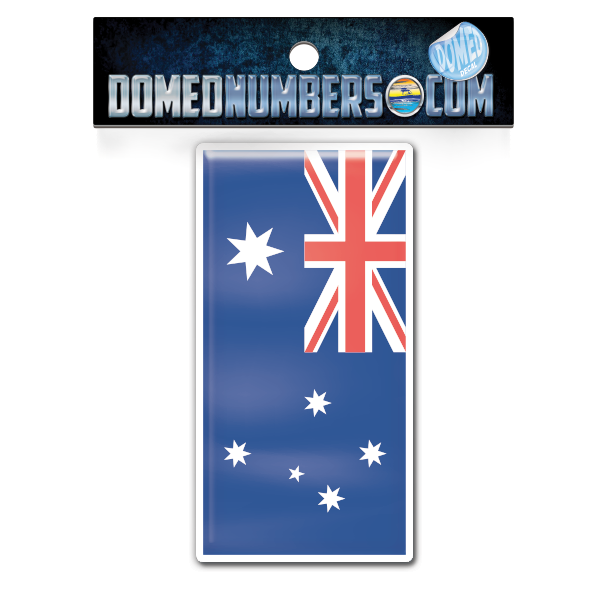 Australia Flag Domed Decal, Choose Your Size