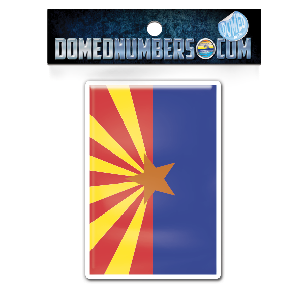 Arizona Flag Domed Decal, Choose Your Size