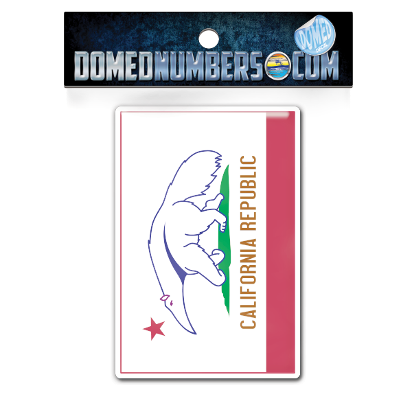 California Flag Domed Decal, Choose Your Size