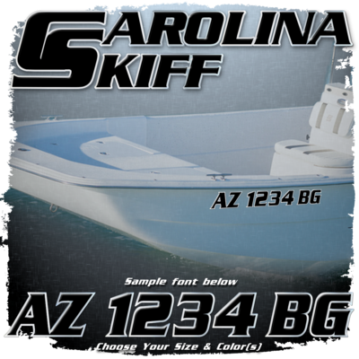 Carolina Skiff Registration (2 included), Choose Your Own Colors